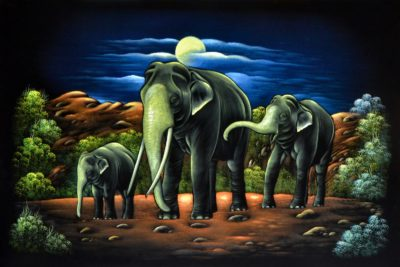 Velvet Wall Art Thunpath Rana (Trio) In The Moon Light