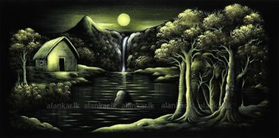 Evening In The Forest Hand Painting