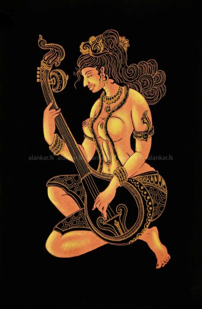 Screen Print of a Woman with a Sitar