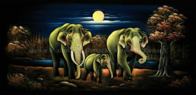 Perfect Elephant family Velvet Wall Art