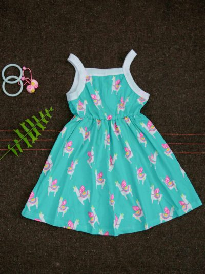 Unicorns Fabric Kids Sleeveless Summer outfit Dress