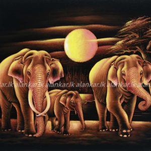Piper Color Elephant family Wall Art
